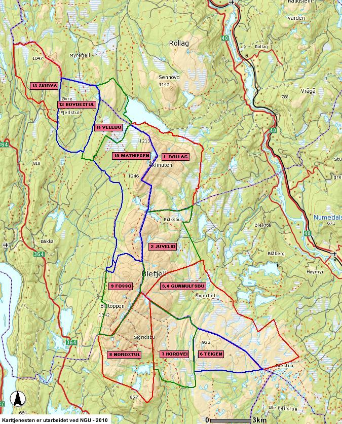 kart blefjell Blefjell villreinområde kart blefjell